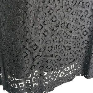 Isaac Mizrahi Dresses - Isaac Mizrahi Black Mini Short Lace Dress A100263
